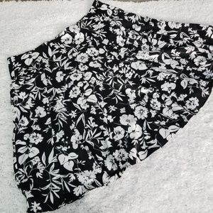 Chaps Pleated Floral Print Side Zip Skirt NWOT